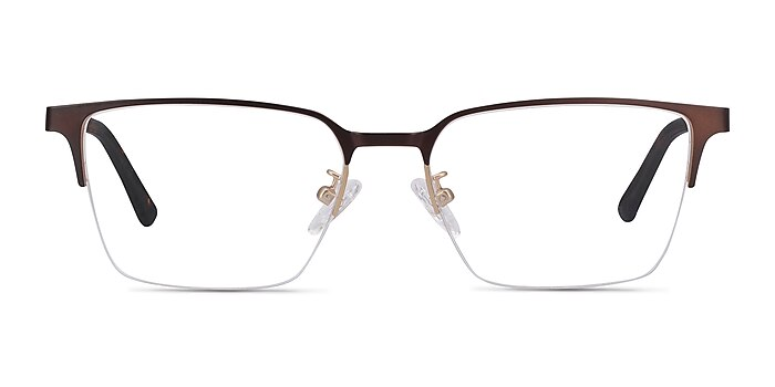 Brink Brown Metal Eyeglass Frames from EyeBuyDirect
