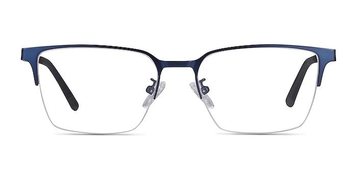 Brink Blue Metal Eyeglass Frames from EyeBuyDirect