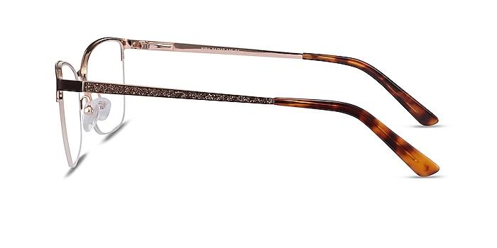 Kira Burgundy Metal Eyeglass Frames from EyeBuyDirect