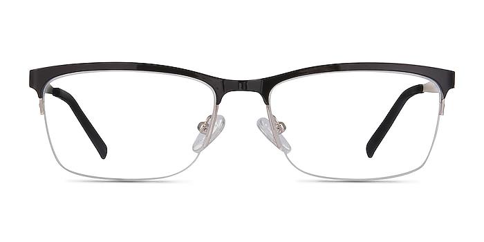 Rally Black Metal Eyeglass Frames from EyeBuyDirect