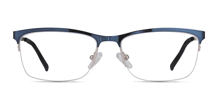 Rally Bleu marine  Métal Montures de lunettes de vue d'EyeBuyDirect