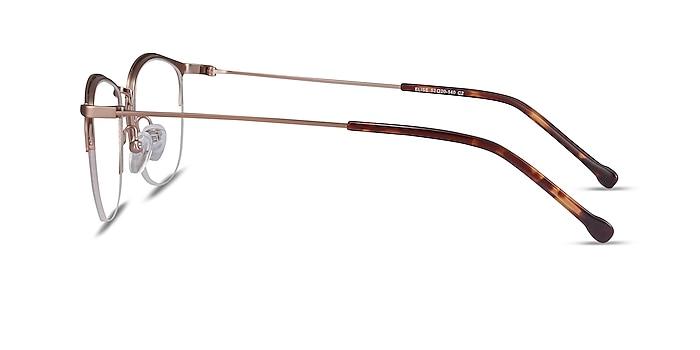 Elise Rose Gold Metal Eyeglass Frames from EyeBuyDirect