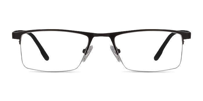 Singapore Matte Black Metal Eyeglass Frames from EyeBuyDirect