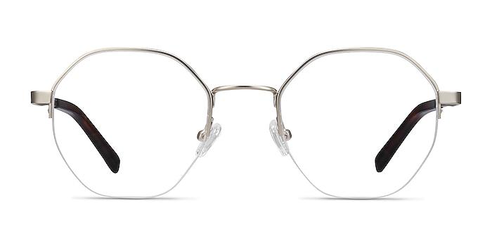 Cowen Silver Metal Eyeglass Frames from EyeBuyDirect