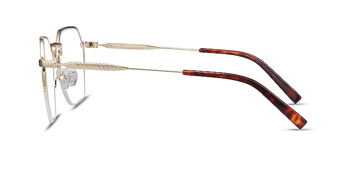 Cruz Gold Metal Eyeglass Frames from EyeBuyDirect