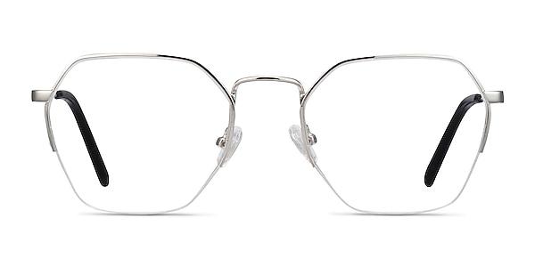 Cruz Silver Metal Eyeglass Frames