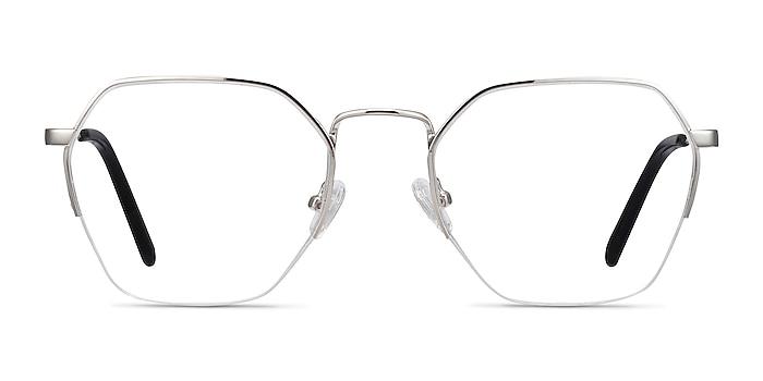 Cruz Silver Metal Eyeglass Frames from EyeBuyDirect