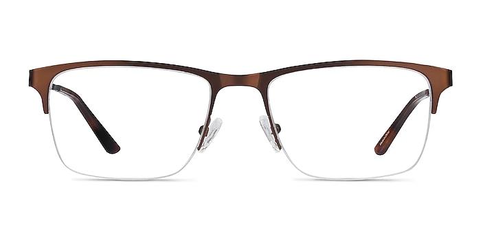 Jasper Coffee Metal Eyeglass Frames from EyeBuyDirect