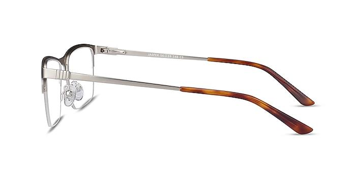 Jasper Silver Metal Eyeglass Frames from EyeBuyDirect
