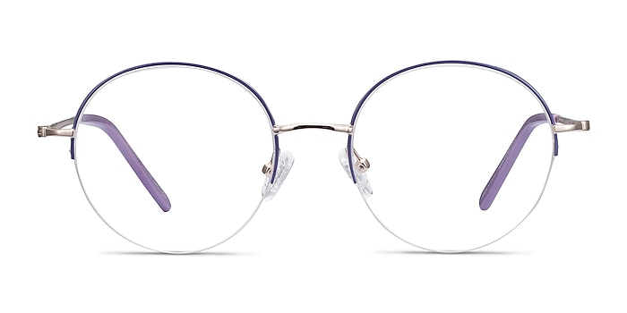 Takashi Purple & Gold Metal Eyeglass Frames from EyeBuyDirect