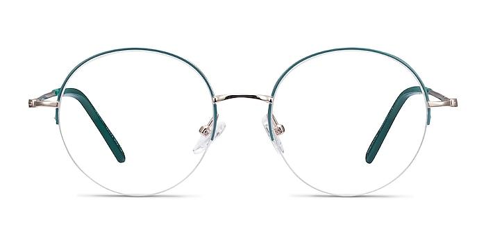 Takashi Green & Gold Metal Eyeglass Frames from EyeBuyDirect