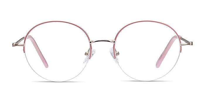 Takashi Pink & Gold Metal Eyeglass Frames from EyeBuyDirect