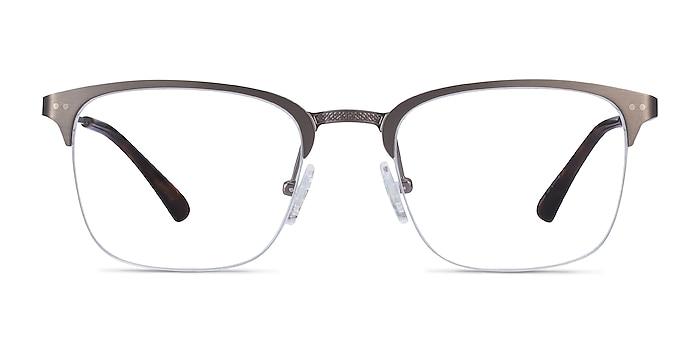 Quinton Gunmetal Metal Eyeglass Frames from EyeBuyDirect
