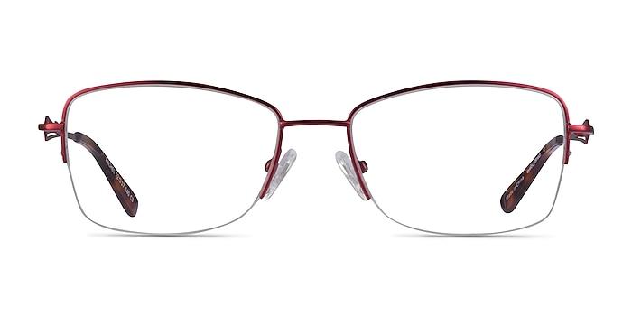 Rachel Burgundy Metal Eyeglass Frames from EyeBuyDirect