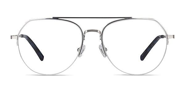 Breathe Silver Metal Eyeglass Frames