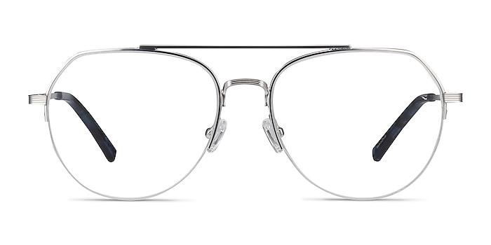 Breathe Silver Metal Eyeglass Frames from EyeBuyDirect