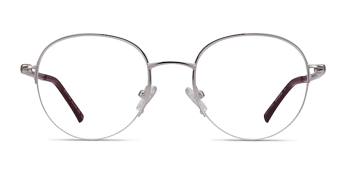 Written Silver Red Metal Eyeglass Frames from EyeBuyDirect