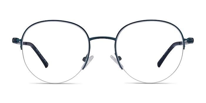Written Navy Metal Eyeglass Frames from EyeBuyDirect
