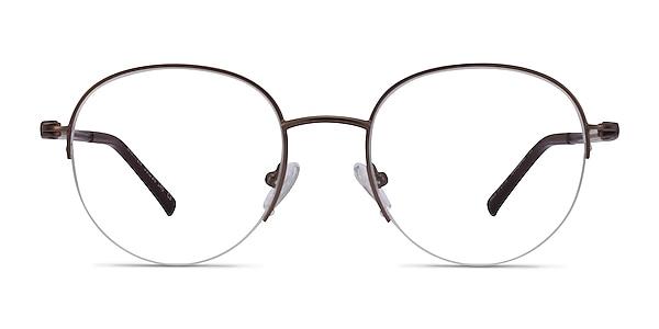 Written Bronze Métal Montures de lunettes de vue