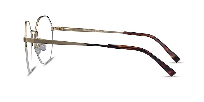 Cowen Gold Metal Eyeglass Frames from EyeBuyDirect