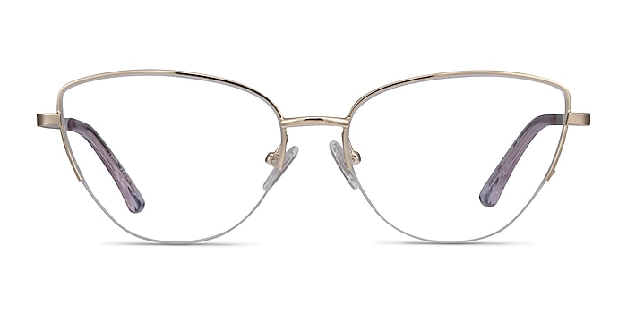 Star Doré Métal Montures de lunettes de vue d'EyeBuyDirect