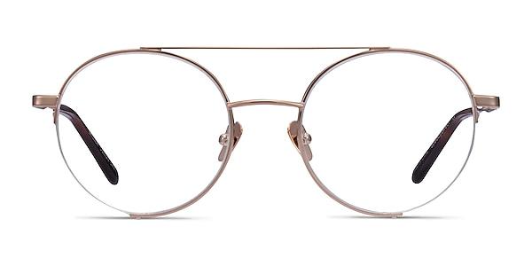 Miller Rose Gold Metal Eyeglass Frames