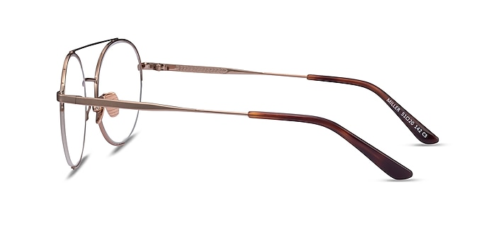 Miller Rose Gold Metal Eyeglass Frames from EyeBuyDirect