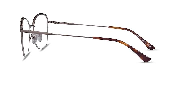 Amande Silver Metal Eyeglass Frames from EyeBuyDirect