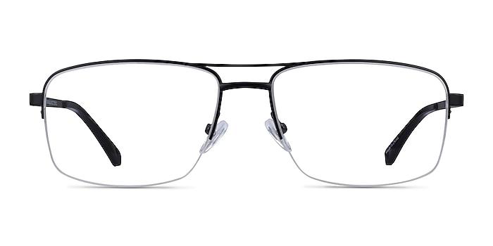 Yorkville Black Metal Eyeglass Frames from EyeBuyDirect