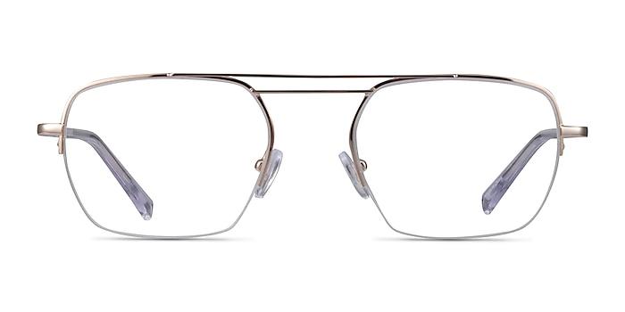 Cabrini Gold Clear Métal Montures de lunettes de vue d'EyeBuyDirect