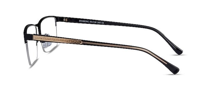 Childeric Black Gold Metal Eyeglass Frames from EyeBuyDirect