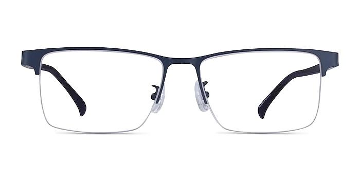 Childeric Navy Metal Eyeglass Frames from EyeBuyDirect