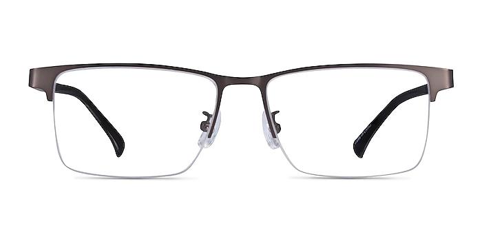 Childeric Gunmetal Metal Eyeglass Frames from EyeBuyDirect