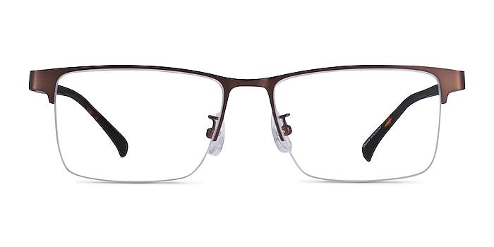 Childeric Brown Tortoise Metal Eyeglass Frames from EyeBuyDirect