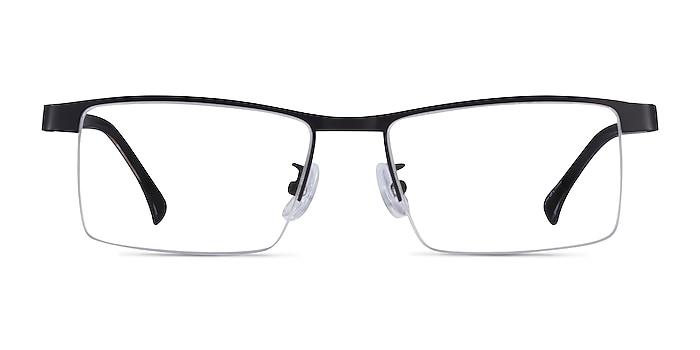 Zac Black Gold Metal Eyeglass Frames from EyeBuyDirect