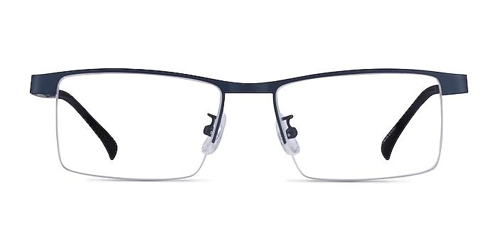 Zac Blue Metal Eyeglass Frames from EyeBuyDirect