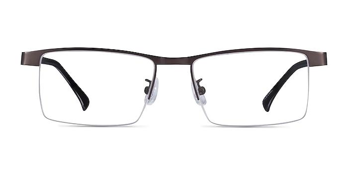 Zac Gunmetal Metal Eyeglass Frames from EyeBuyDirect