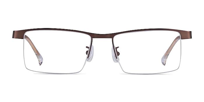 Zac Coffee Gold Metal Eyeglass Frames from EyeBuyDirect