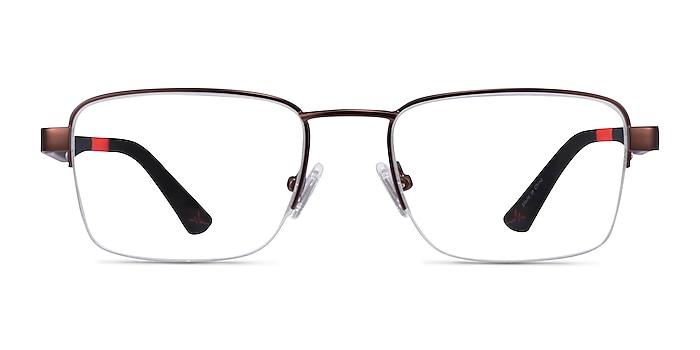 Primus Bronze Metal Eyeglass Frames from EyeBuyDirect