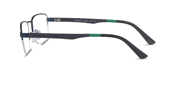 Primus Navy Metal Eyeglass Frames from EyeBuyDirect