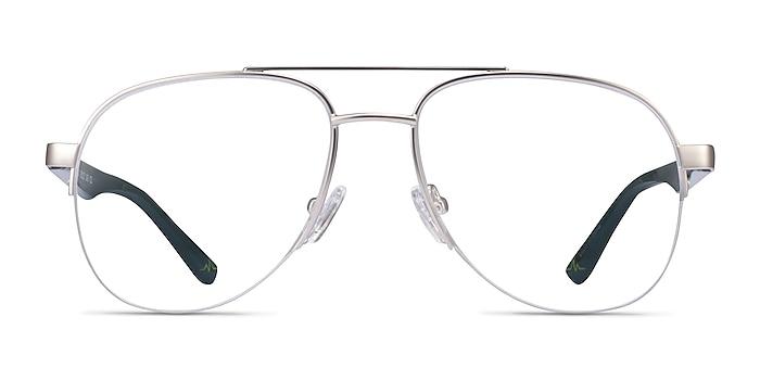 Hydroflux Silver Metal Eyeglass Frames from EyeBuyDirect