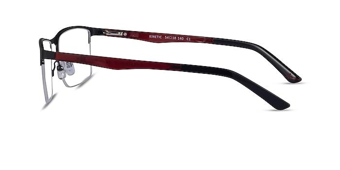 Kinetic Matte Black Metal Eyeglass Frames from EyeBuyDirect