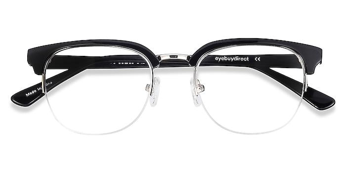 Black  Genbu -  Vintage Acetate, Metal Eyeglasses