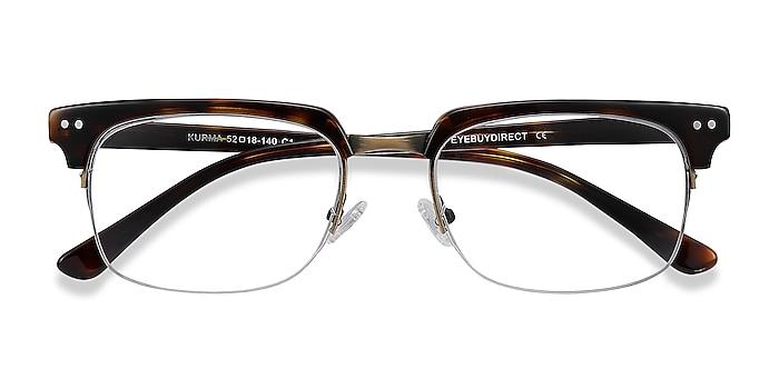 Tortoise Kurma -  Vintage Acetate, Metal Eyeglasses