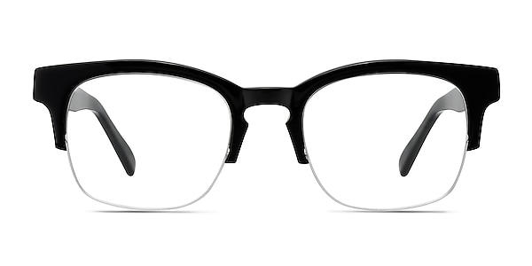 Luxe Black Acetate Eyeglass Frames