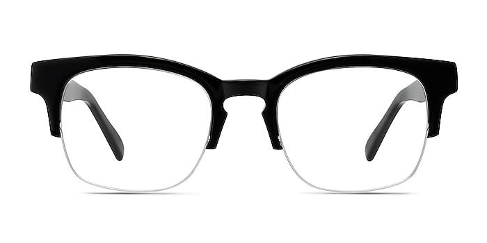 Luxe Black Acetate Eyeglass Frames from EyeBuyDirect