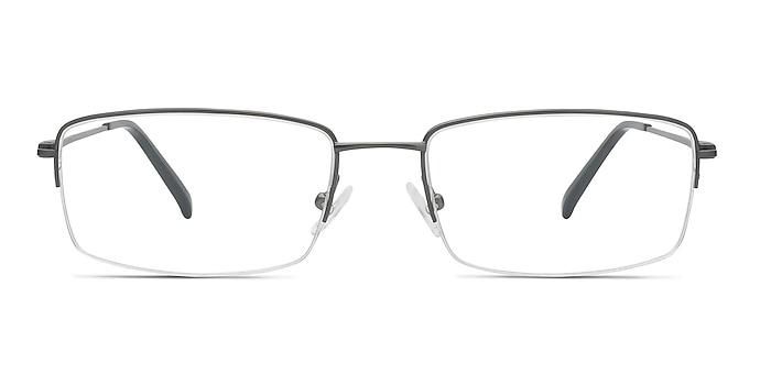 Kanick Gunmetal Titanium Eyeglass Frames from EyeBuyDirect