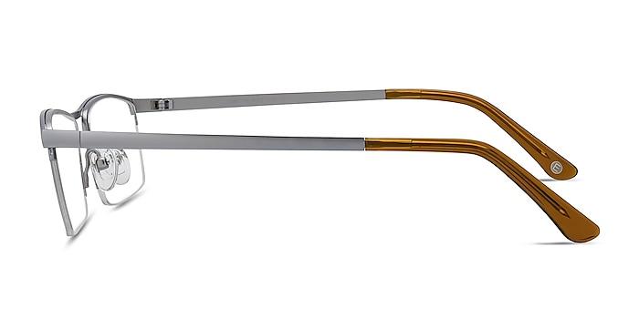 Lake Gray Titanium Eyeglass Frames from EyeBuyDirect