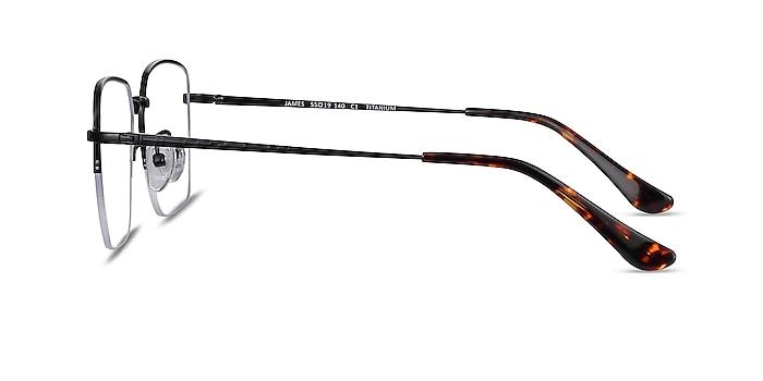 James Black Titanium Eyeglass Frames from EyeBuyDirect