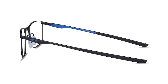 Oakley Socket 5.0 Satin Black & Blue Metal Eyeglass Frames from EyeBuyDirect
